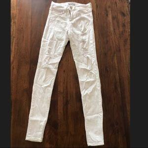 Flying Monkey White Ripped Skinny Jeans